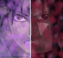 Uchiha Sasuke and Uchiha Madara by Itachis999