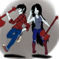 Marceline and Marshall Lee by DevilLink