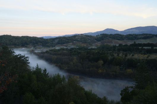 Mists over the Russian River by Monturrock