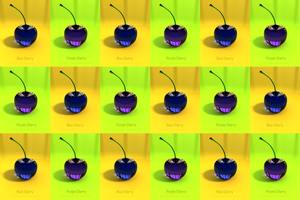 Blue and Purple Cherries by THE-LEMON-WATCH