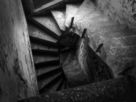 Abandoned staircase by Rosssc