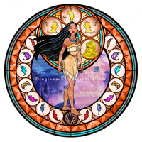 Pocahontas - Kingdom Hearts Stain Glass by reginaac57