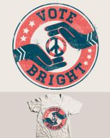 VOTE BIRGHT tee design by dandingeroz