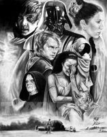 Skywalker Family by Twynsunz