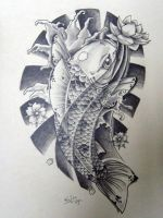 Black n' White Japanese Koi by EdilsonR74