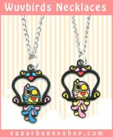 Wuvbirds Necklaces by celesse