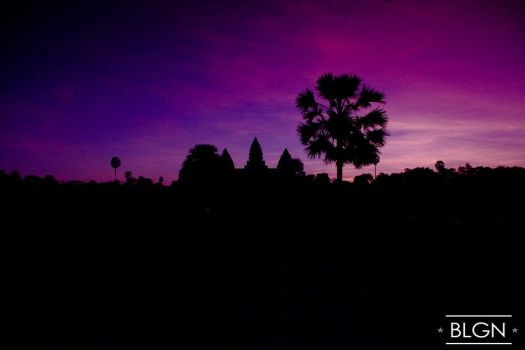Angkor Wat Silhouette by jovifactor