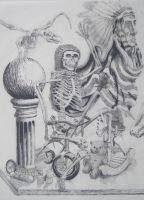 pen and ink still life by cheastnut