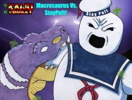 Macrosaurus Vs StayPuft Marshmallow man by MrKorra
