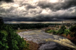 The Pulp Mill Grand Falls NL by Witch-Dr-Tim