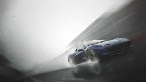 458 In Torrential Rain by leeislee