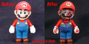Large Zombie Mario compare by Undead-Art