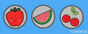 Fruit Button Set Preview by Sacari