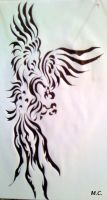 Tribal Phoenix by Inimputable