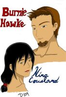Burnie Hawke and Nina Cousland by demongal109