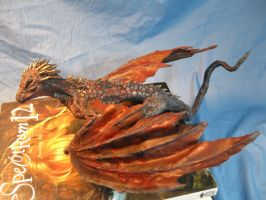 Final Airbrushed Drogon Commission 2 by RavendarkCreations