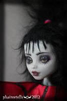 Monster High repaint  Lydia  beetlejuice Portrait by phairee004