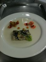 Mushroom Terrine Presentation by kristinyates