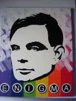 Alan Turing, 11 layer stencil. by Zombie-Pacman