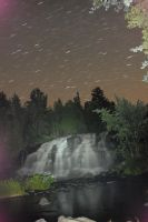 Bond Falls -night stars by jchsoad