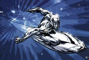 Silver surfer Graffiti by kitster29