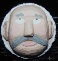 Painted Carved Golfball 2 by Des804
