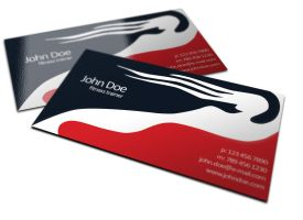 Free Fitness Trainer Business Cards Design by BorceMarkoski