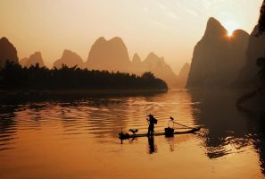 Break of day on the Li Jiang by Iancaus2001