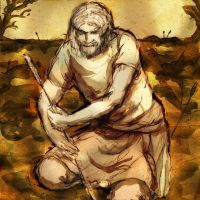 Raedwulf collecting arrows by popicok