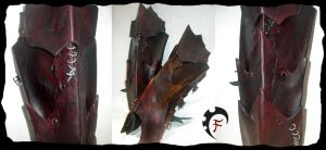 Bloodbathed Orc Armor -- Greaves by Feral-Workshop