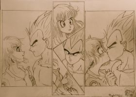 Vegeta's Kiss by Psykokitten