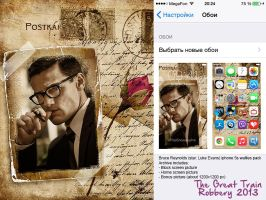 Bruce Reynolds (star. Luke Evans) mobile wallies 1 by RenStrangel