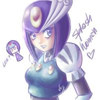 another splash woman doddle by Vay-demona