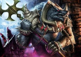 Digi-art Throwdown - League Of Legends' Warwick by AznKyuubi
