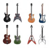 Electric guitars by RobleskaZeppelin