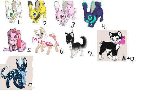 Free adoptables {OPEN} by alicemoonfrost