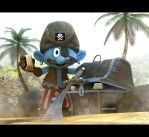 Smurf Pirate by ivanth