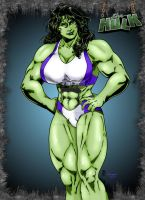 She-Hulk (from Fuerza) by Jean Sinclair by THE-Darcsyde