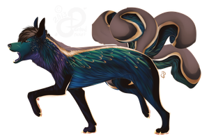 PKMN Sparkly Design: iJemz's Fina [Vulpix] by PaintedCricket