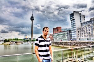 Dominik at the Medienhafen HDR by MajorDisaster