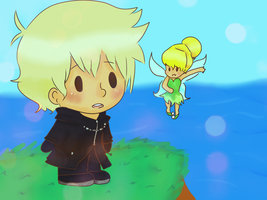 Roxas and Tink by musicandsketches