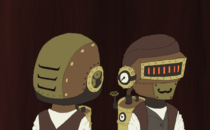 Steam Punk Daft Punk by ThePikuseru