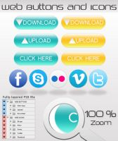 WEB BUTTONS AND ICONS by dimplegal
