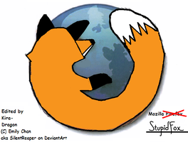 Mozilla Stupidfox by Kira-Dragon
