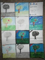 Apple tree in 11 mediums by Justyn16