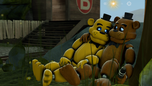Twin-Golden Freddy and Freddy by TalonDang
