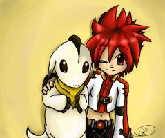 .:Elsword:. Best of friends by Paws-the-snowleopard