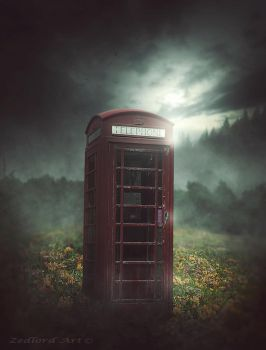 Abandoned Phonebooth by ZedLord-Art