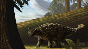 Ankylosaurus magniventris by MicrocosmicEcology