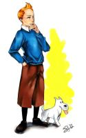 Tintin and Milou by GreyRadian